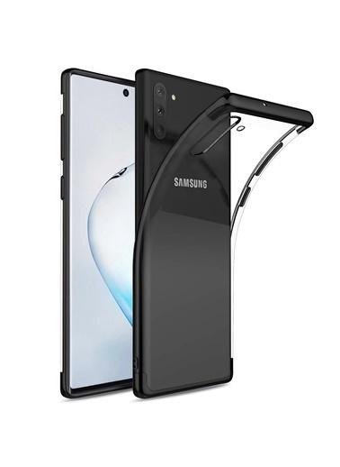 Microsonic Samsung Galaxy Note 10 Kılıf Skyfall Transparent Clear Siyah Siyah